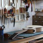Guitare 000 noyer - fabrication - manche et caisse