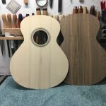 Guitare 000 noyer - fabrication - table et fond avant barrages
