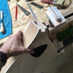 Bouzouki archtop cerisier - fabrication - assemblage caisse et manche